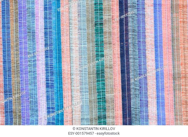 Colored Striped Fabric Background