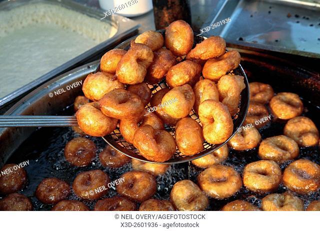 Fresh doughnuts for sale on the street, Istanbul, Turkey