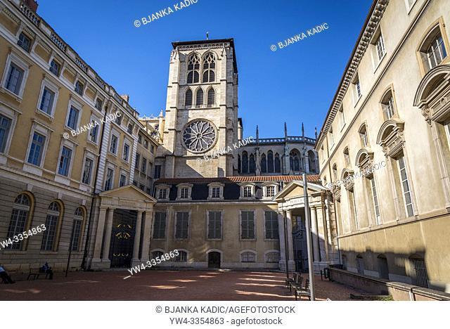 Lyon Cathedral, Cathédrale Saint-Jean-Baptiste de Lyon, a Roman Catholic church located on Place Saint-Jean. The cathedral is dedicated to Saint John the...