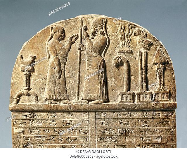 Detail from the limestone Stela of Marduk. Babylonian civilisation, 10th Century BC