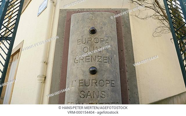 Monument Europe without Borders, Place de L'Europe, Schengen, Grand Duchy of Luxembourg
