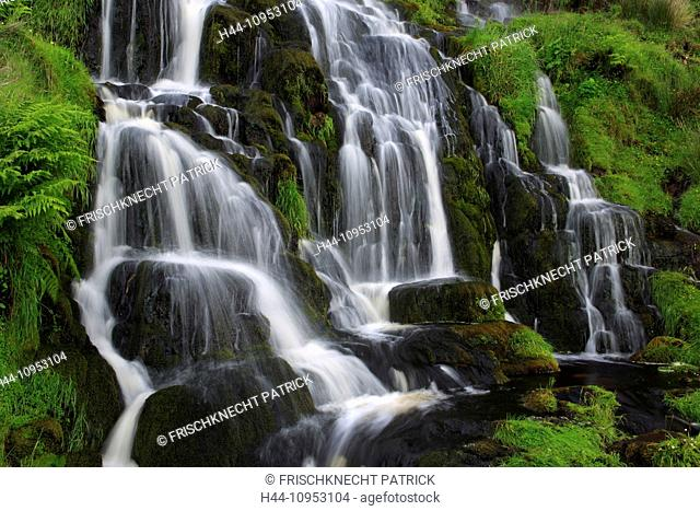 Bride's Veil, Bride's Veil Waterfall, cliff, rock, cliff, water, Great Britain, Europe, Isle of Skye, cascade, nature, Scotland, summer, stone, stones, waters