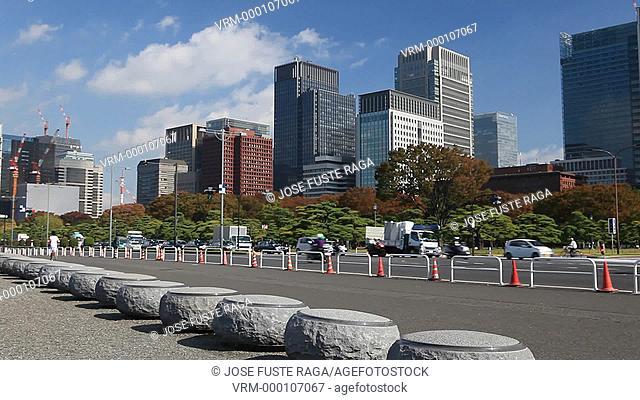 Japan, Tokyo City, Marunouchi business and financial distric , dowtown Tokyo