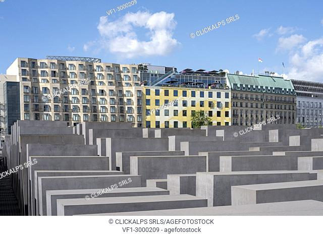 The Holocaust memorial monument in Mitte district in the centre of Berlin, Germany, Europe