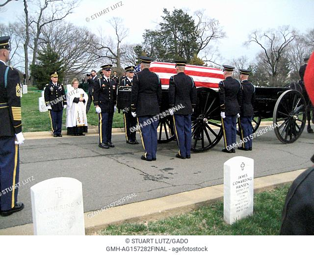 Funeral at Arlington National Cemetery for Frank Buckles, the last surviving American soldier to have fought in World War 1, who passed away at age 110