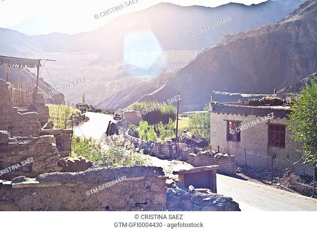 Early morning mountain village