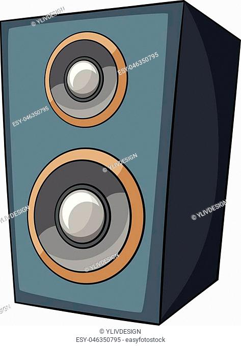 Music speaker icon. Cartoon illustration of music speaker vector icon for web