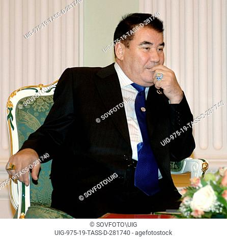 Moscow, russia, january 23, 2006, president of turkmenistan saparmurat niyazov is pictured during his meeting with russian president vladimir putin in the...