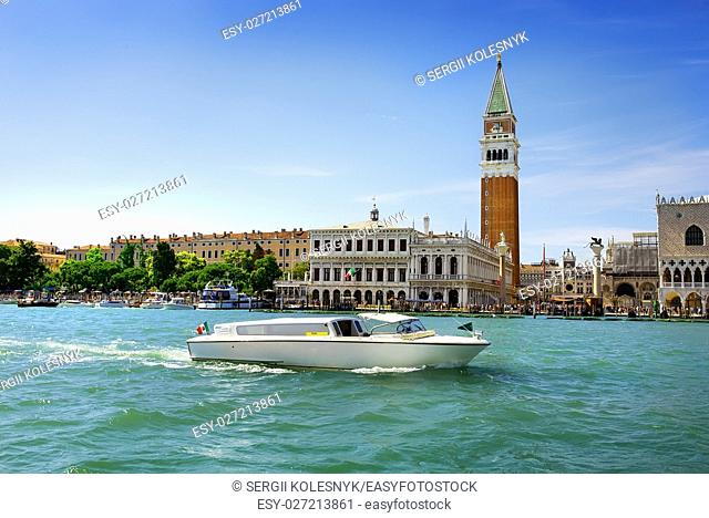 View on San Marco in Venice from Grand Canal, Italy