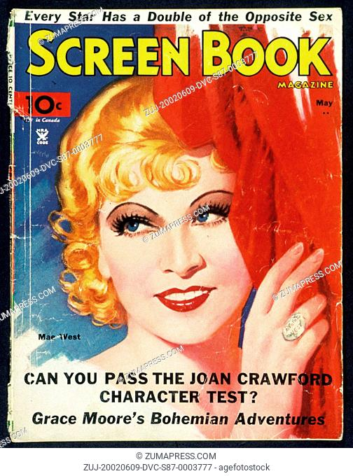 1935, Film Title: SCREEN BOOK. (Credit Image: SNAP/ZUMAPRESS.com)