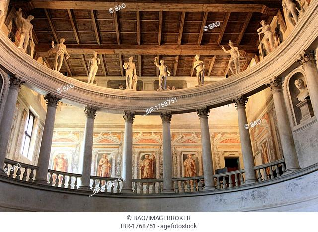 Greek deities on the gallery of the Teatro all 'Antica in Sabbioneta, UNESCO World Heritage Site, Lombardy, Italy, Europe