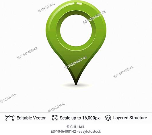 Vector symbol isolated on white. Easy to edit