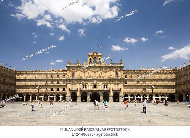 Plaza Mayor, Main Square, Salamanca, Castilla y León, Spain