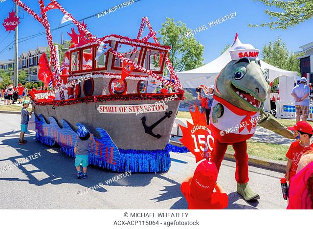 Steveston Salmon Festival float, Village of Steveston, Richmond, British Columbia, Canada