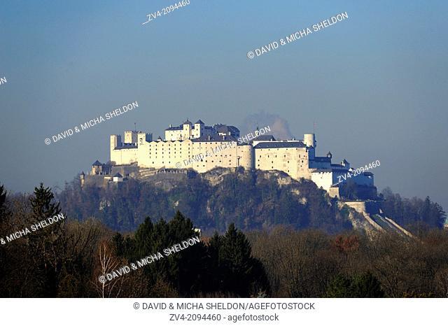 Urban landscape of the Festung Hohensalzburg in Salzburg, Austria