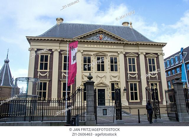 famous museum Mauritshuis in Den Haag, Holland