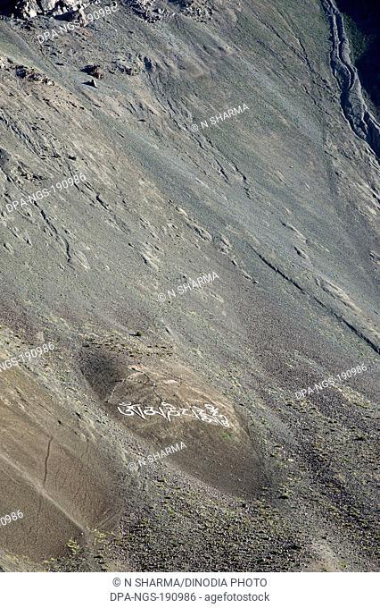 mountain tabo himachal pradesh India Asia