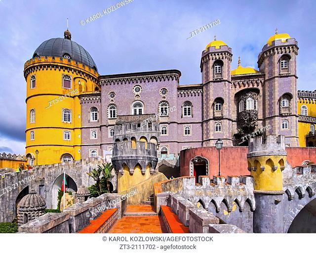 Palacio Nacional de Pena - Pena National Palace in Sintra, Portugal