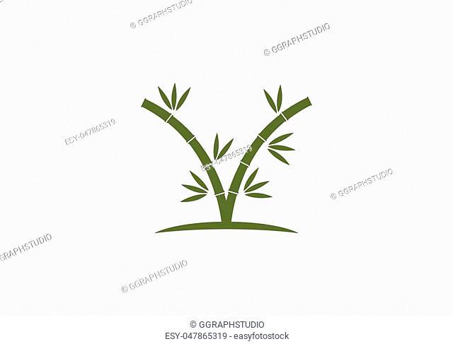 bamboo ilustration logo vector template