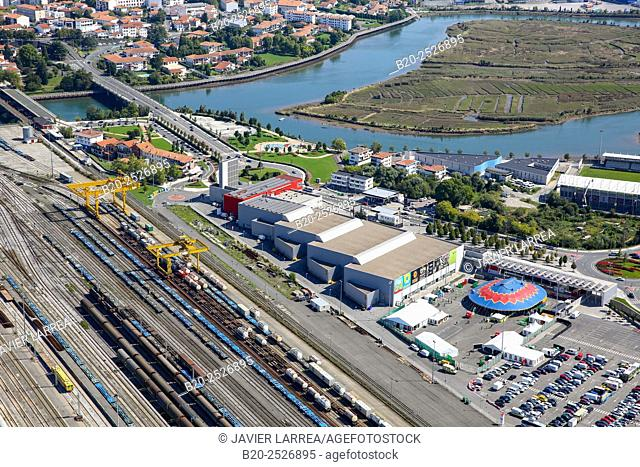 Aerial view, Ficoba, Basque Coast International Fair, Irun, Gipuzkoa, Basque Country, Spain