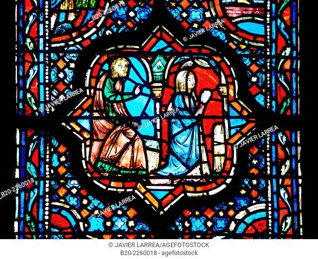 Stained glass window. Sainte Chapelle. Paris. France