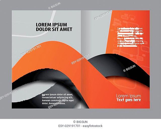Empty bi-fold brochure template design