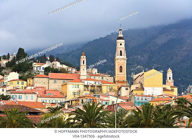 The Basilique St-Michel-Archange in Menton, Provence, France, Europe