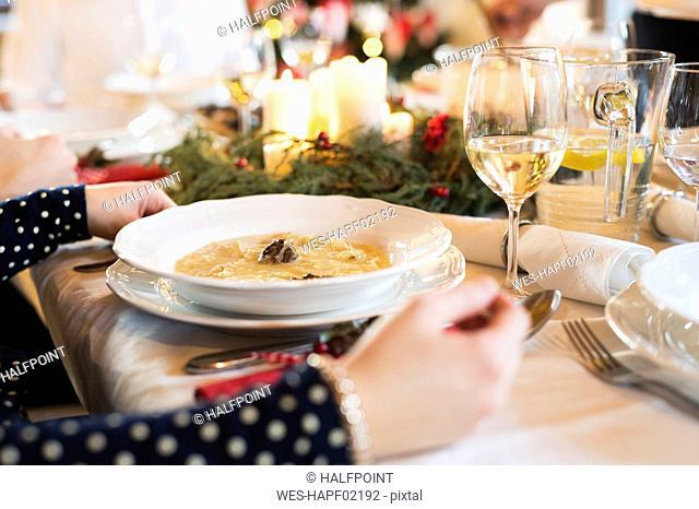 Starter at Christmas dinner