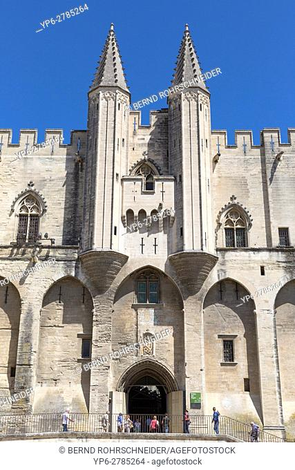 Papal palace (Palais des Papes), Avignon, France