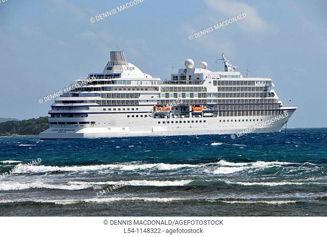 Caribbean Cruise ships in Isla Roatan Honduras Central America