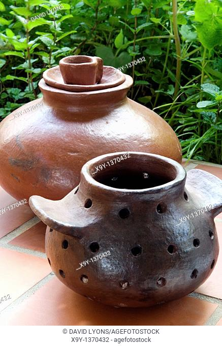 Hand thrown ceramic pottery  Traditional produce on the island of La Gomera, Canary Islands