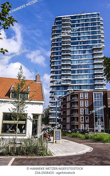 Hartje New York, a newly built skyscraper in Eindhoven, The Netherlands