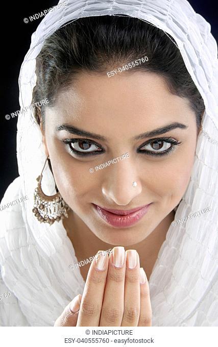 Muslim woman greeting