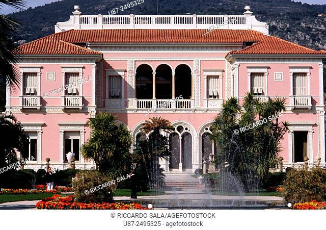 France, Provence, Cote Azur, Cap Ferrat, Saint Jean, Villa Ephrussi de Rothschild