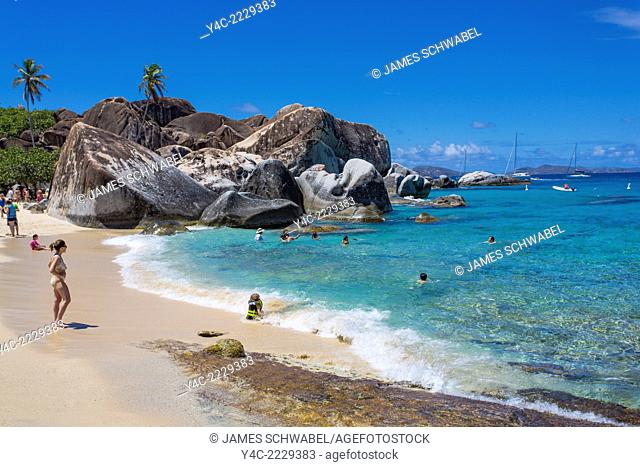 The Baths on the Caribbean Island of Virgin Gorda in the British Virgin Islands