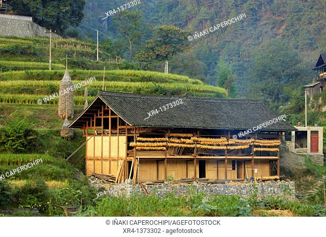 Traditional Houses, Shiqiao Streets, Shiqiao, Guizhou, China