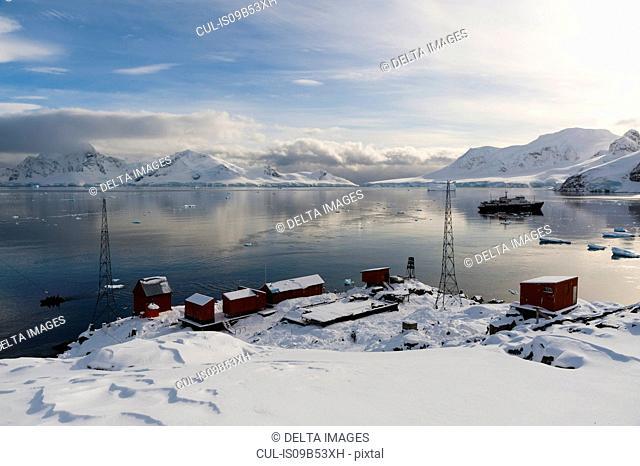 Almirante Brown Argentinian station, Paradise Bay, Antarctica