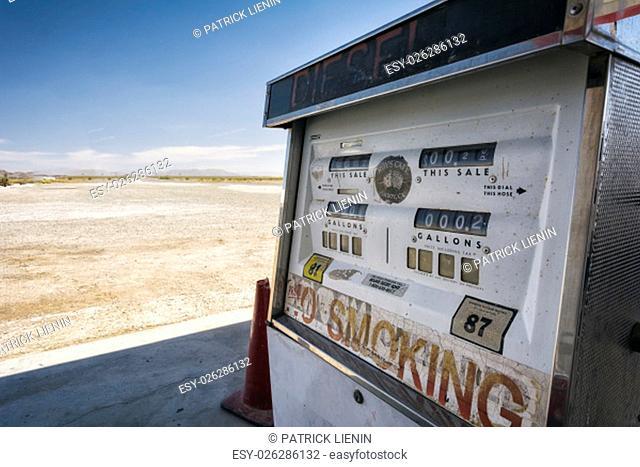 Gas Station in the Desert, California, USA