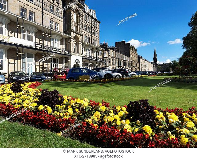 Hotel and Gardens on West Park in Harrogate North Yorkshire England