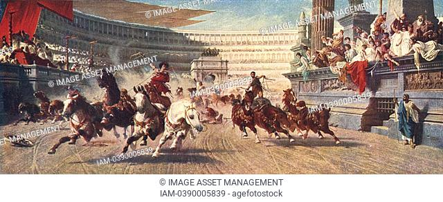 Victorian impression of a Roman chariot race