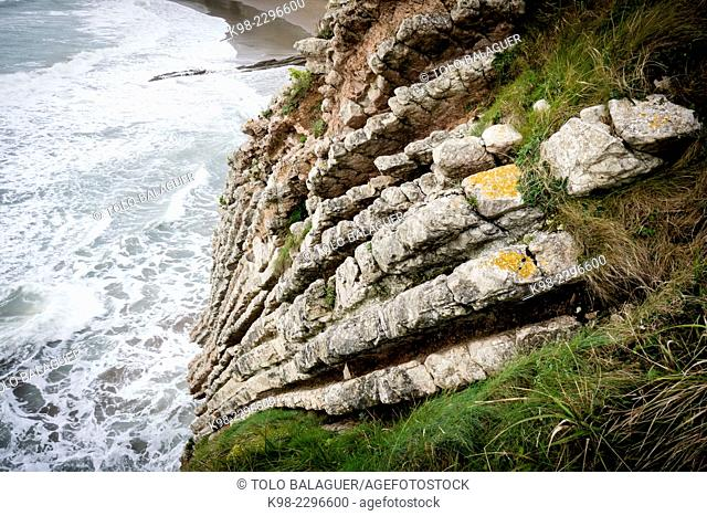 Spain, Basque Country, Guipuzcoa, Flysch coast