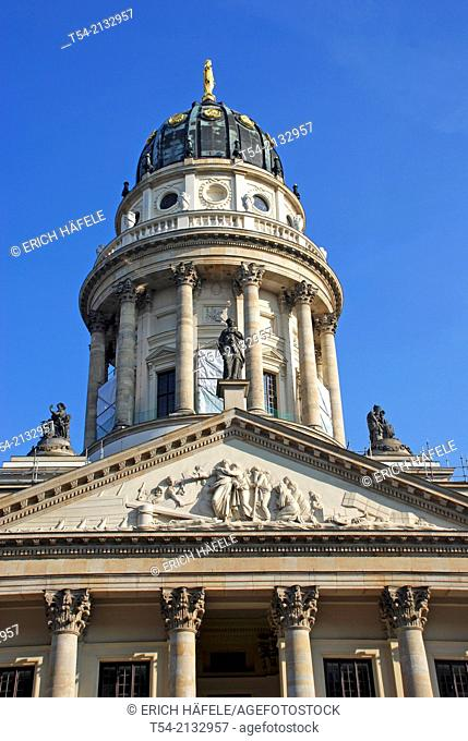 The French Cathedral at the Gendarmenmarkt in Berlin