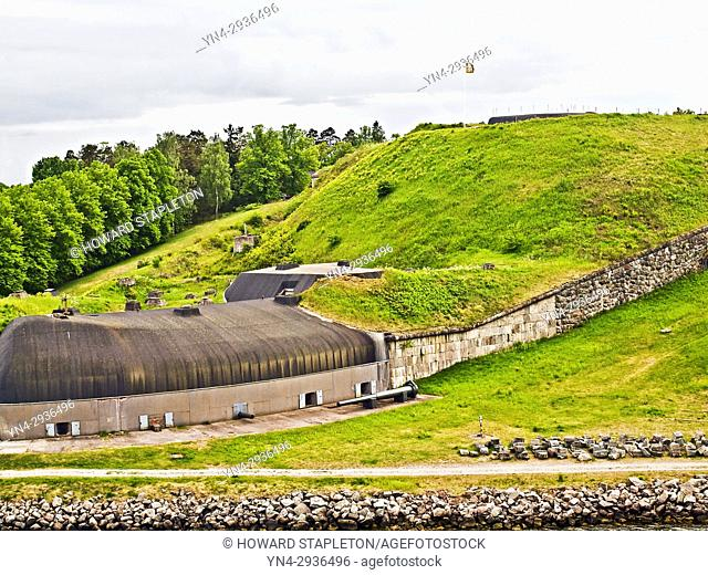 Fort Oskar-Fredriksborg in the Stockholm archipelago on the island of Rindo, Sweden. The fort was build from 1870 to 1877 and remained in use during the Second...