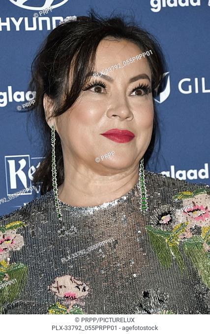 Jennifer Tilly at the 30th Annual GLAAD Media Awards held at the Beverly Hilton Hotel in Beverly Hills, CA on Thursday, March 28, 2019