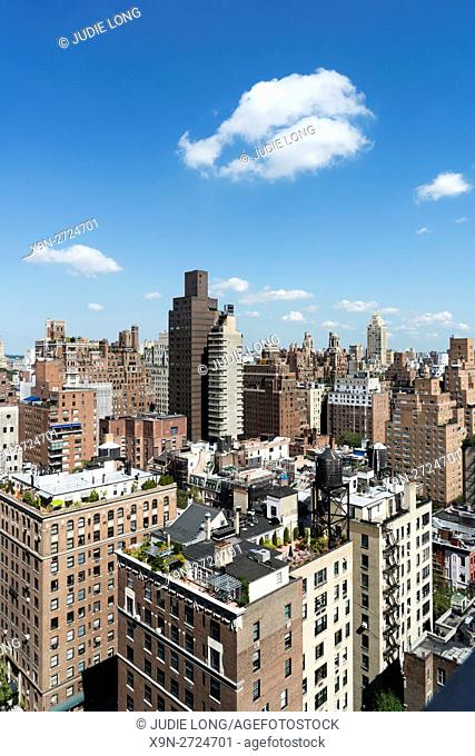 Looking Northwest over the Rootops and Apartment Buildings of the Upper East Side of Manhattan, New York City