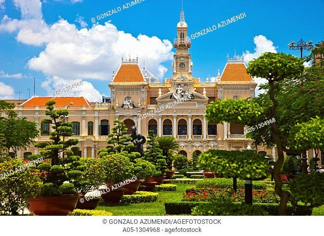 City Hall. Ho Chi Minh City (formerly Saigon). South Vietnam
