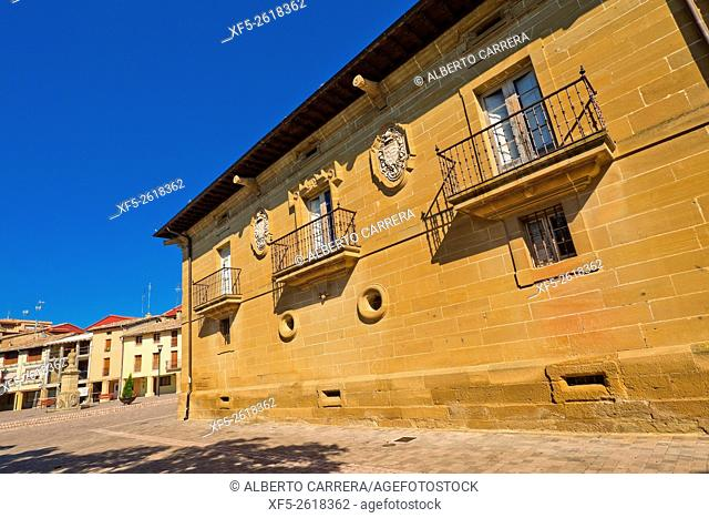 Palace of the Pobes, S. XVIII, Baroque Style, Palacio de los Pobes, Casalarreina, La Rioja, Spain, Europe