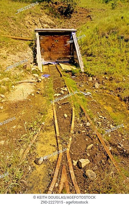 Old mine entrance, Silver Queen mine, Owen Lake, Houston, British Columbia