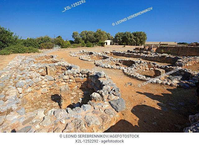 Ruins of the Minoan Palace of Malia  Crete, Greece