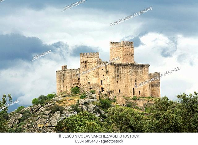 Beslvis de Monroy castle, from XIV Century, in Cáceres province  Extremadura  Spain
